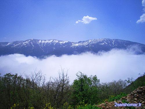 کوه چهارنو در محاصره مه و برف - 22 فروردین 1392 - عکس از عطیه نظری
