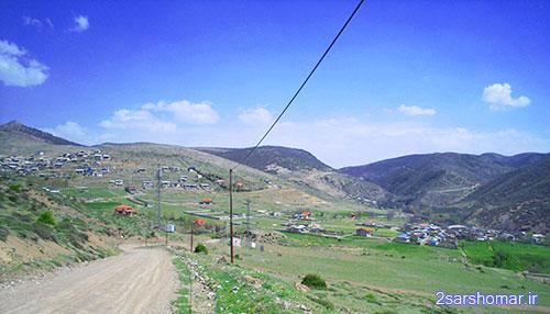 نمایی دور از روستاهای قلعه ، پایین ده و تیله بن - 22 فروردین 1392 - عکس از عطیه نظری