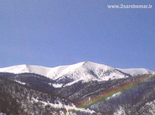 نمای قله ی چهارنو با رنگین کمان - 26 اسفند 1390